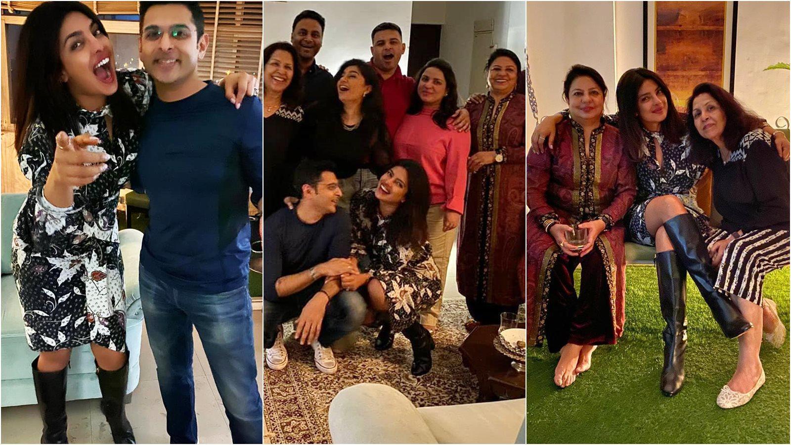 Priyanka Chopra enjoys 'family night' in New Delhi, mom Madhu Chopra joins in the celebration