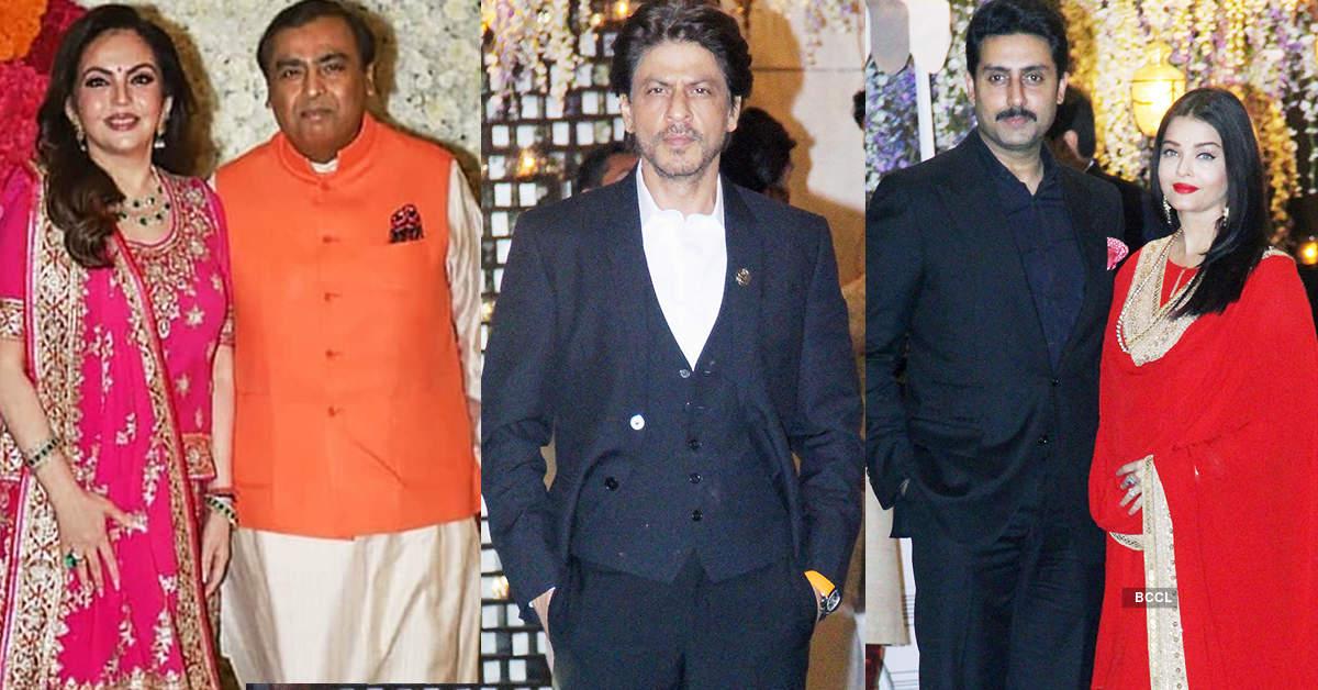 Shah Rukh Khan, Aishwarya Rai Bachchan, Shahid Kapoor & others shine at Ambani party