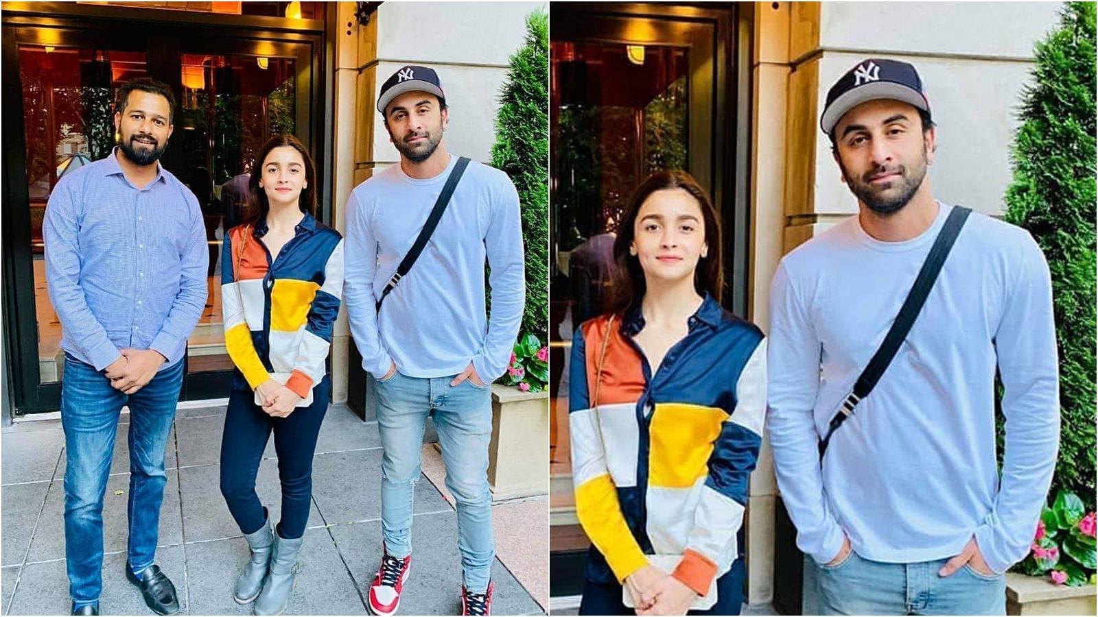 Ranbir Kapoor and Alia Bhatt strike a pose with fan in Los Angeles
