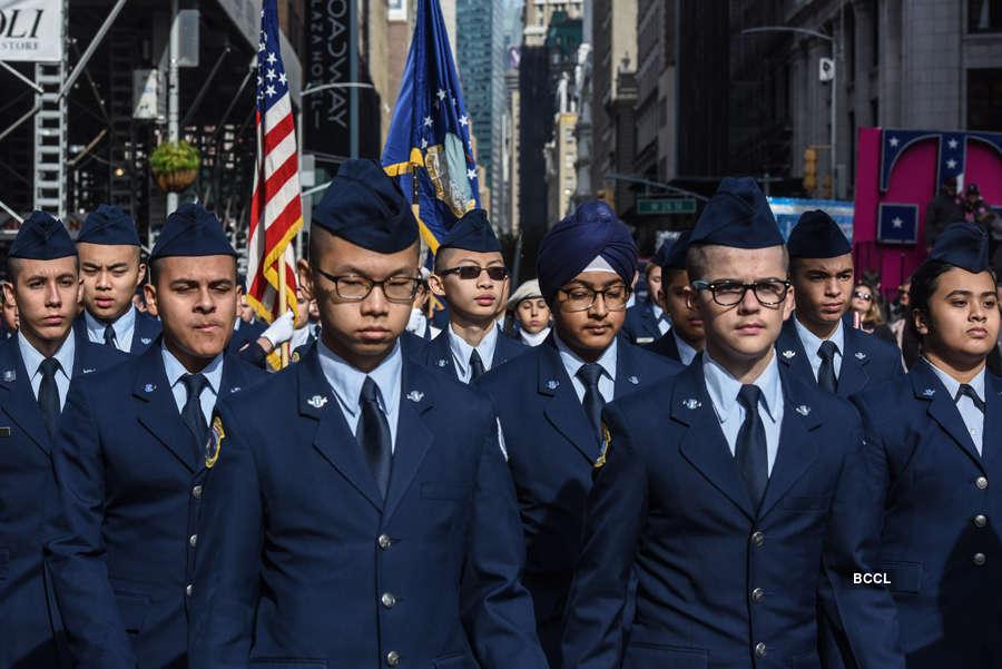 Trump honours veterans at 100th anniversary of NY parade