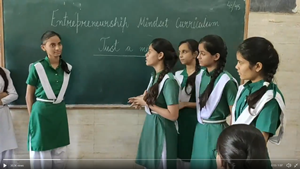 Delhi school students test English spoken skills under Entrepreneurship Mindset Curriculum