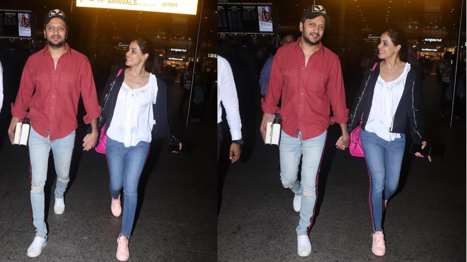Couple goals! Riteish Deshmukh, Genelia D'Souza look cute together
