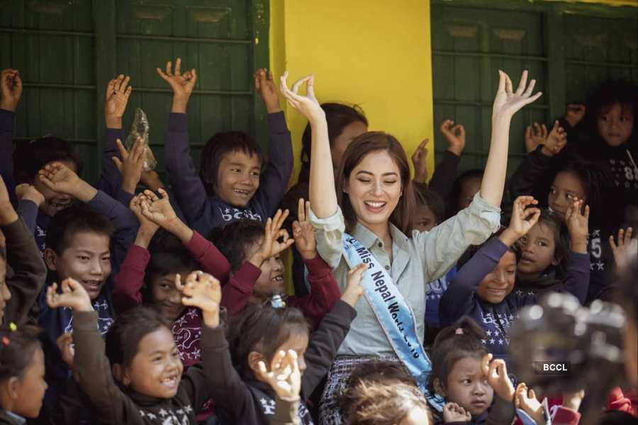 Miss World Nepal 2018 launches cosmetics to support child education