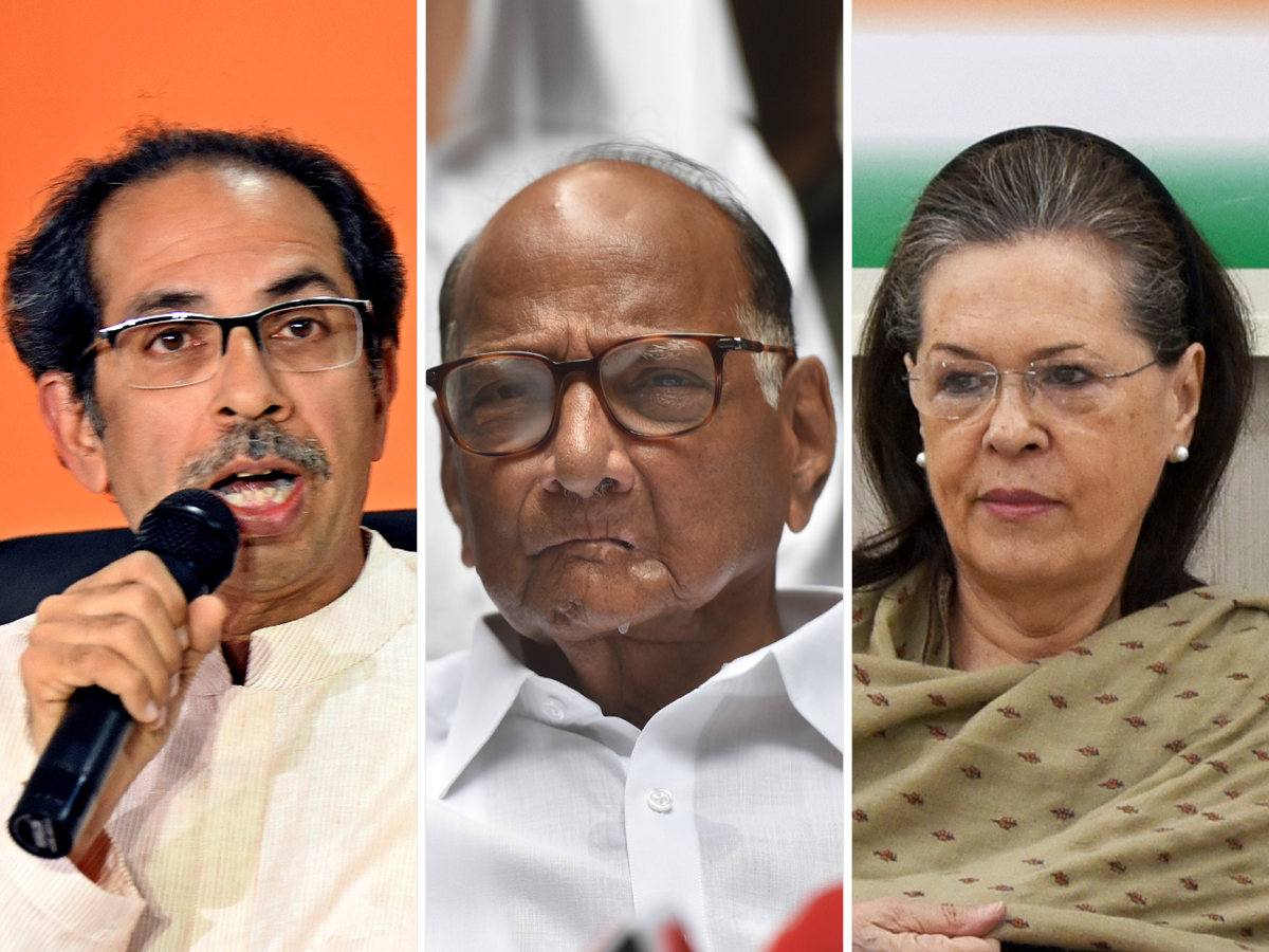 Image result for shiv sena with ncp and congress