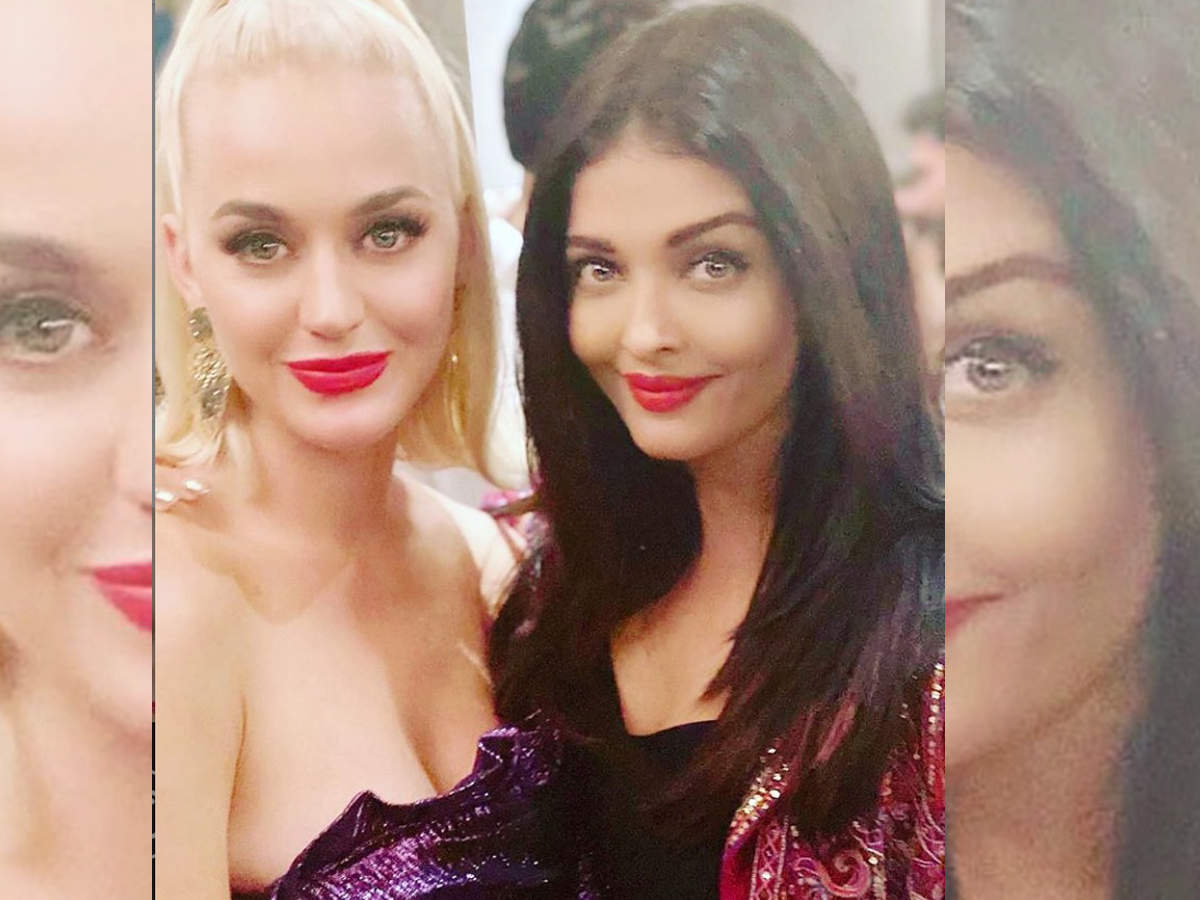 Aishwarya Rai Bachchan and Katy Perry pose for a picture and it is all things beautiful - When Bollywood celebs partied with their Hollywood counterparts  | The Times of India