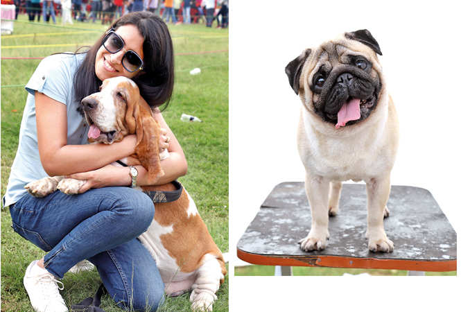 (L) Tanvi with her pet Barney, the Basset Hound (R) Main Hoon Rambo (BCCL/ Aditya Yadav)