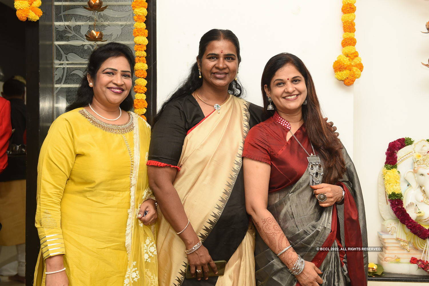 Former Hyd Mayor Karthika Reddy hosts a Diwali party