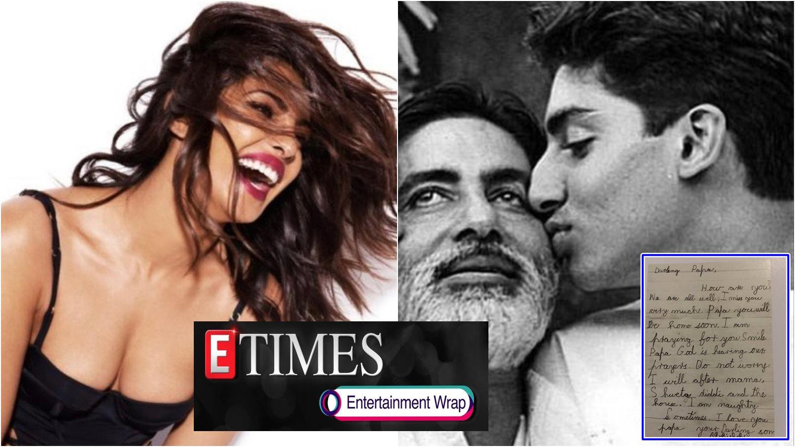 Priyanka Chopra is happy to see Mumbai's blue sky after leaving Delhi; Amitabh Bachchan shares old letter written by Abhishek as a kid, and more...
