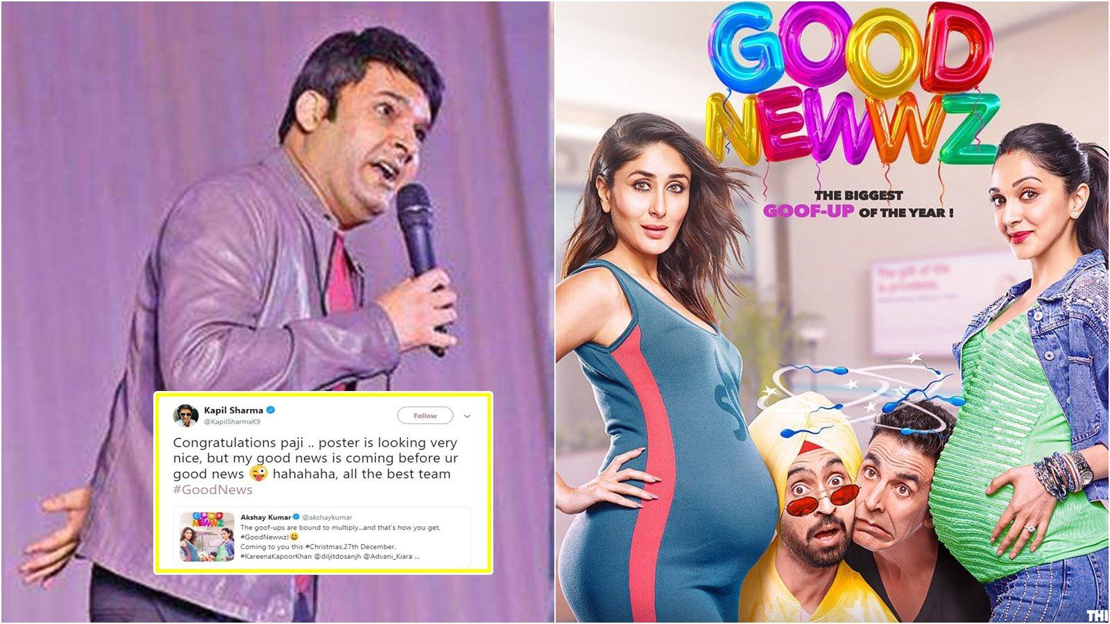 Akshay Kumar and Kapil Sharma's fun Twitter banter over 'Good Newwz' is just unmissable