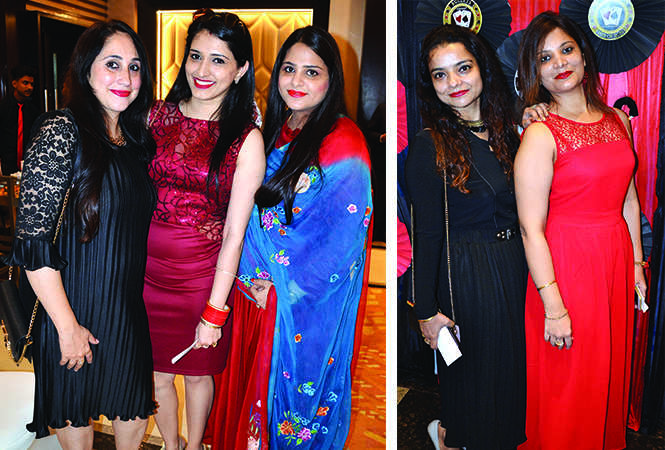 (L) Micky Khanuja, Rashmeeta Kaur and Rashi Bhatia (R) Preeti Arora and Anupreet Arora (BCCL/ IB Singh)