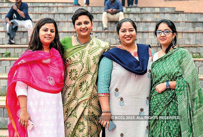 (L-R) Rubaroo Executive Director Hema Khatri, Co-founder & CEO Monisha Vemavarapu, Co-founder Neha Swain, and Director (programmes) Shubhi Dwivedi