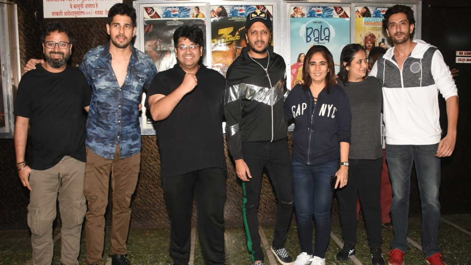 Sidharth Malhotra, Riteish Deshmukh visit multiplex to watch their film 'Marjaavaan'