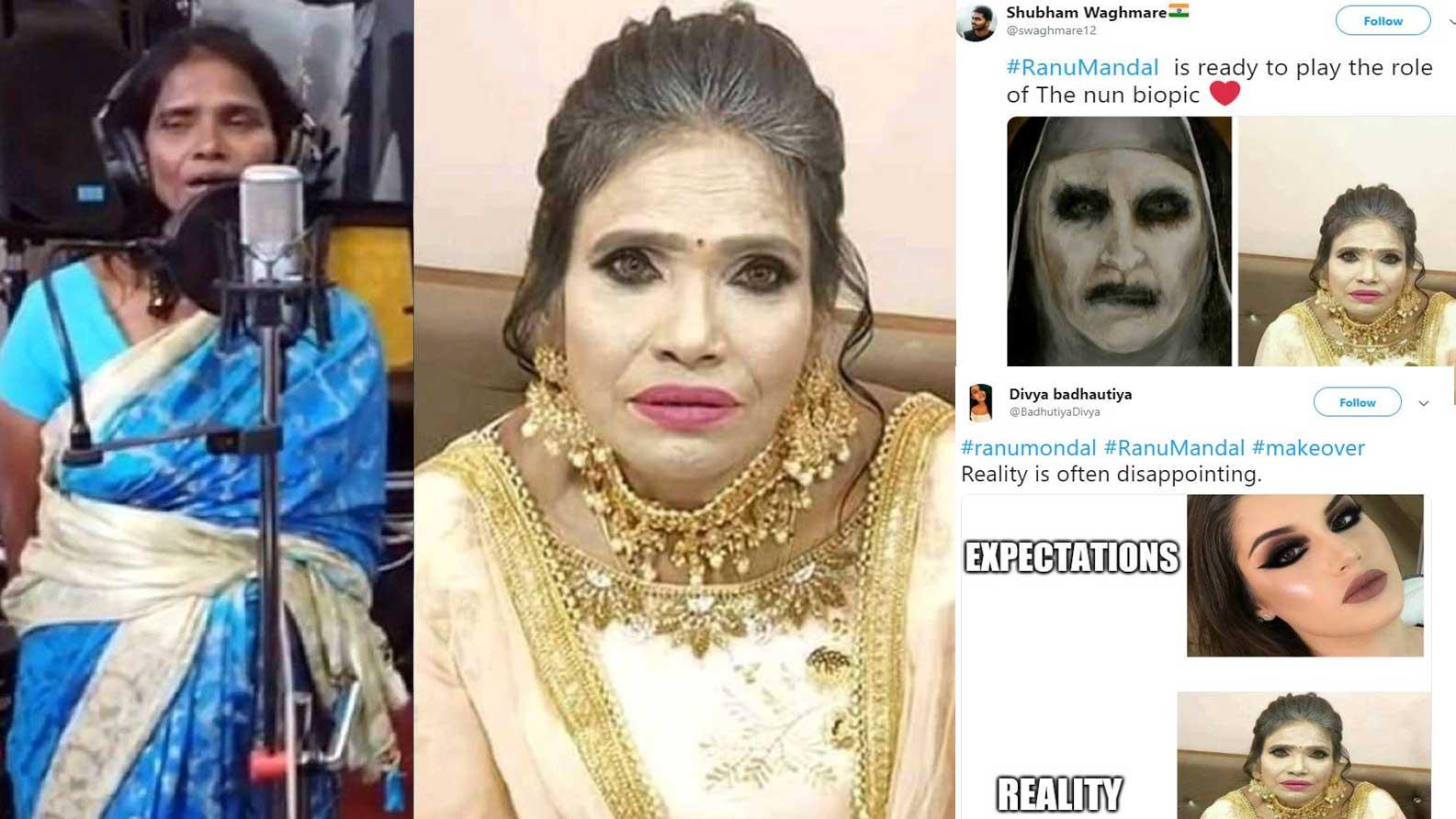 Singing sensation Ranu Mondal's makeup picture leads to hilarious meme fest