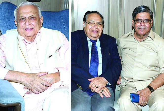 (L) Dr Mansoor Hasan (R) Dr PK Seth and NN Upadhyay (BCCL/ Aditya Yadav)