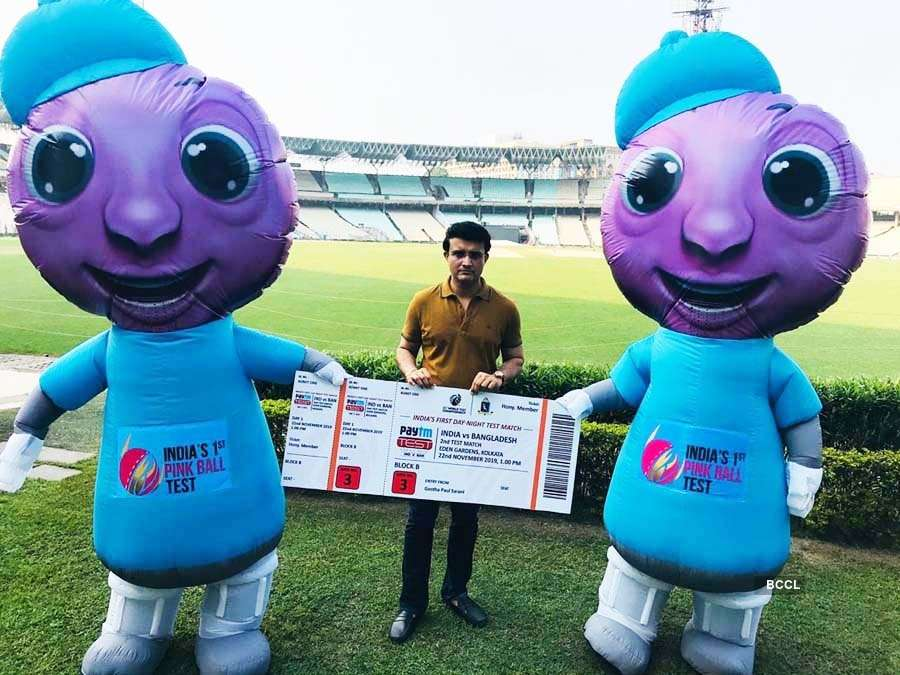 Sourav Ganguly unveils mascots 'Pinku-Tinku' as India gears up for first-ever Day/Night Test