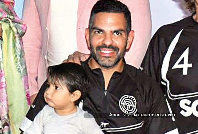Sunjay Kapur with his son Azarius