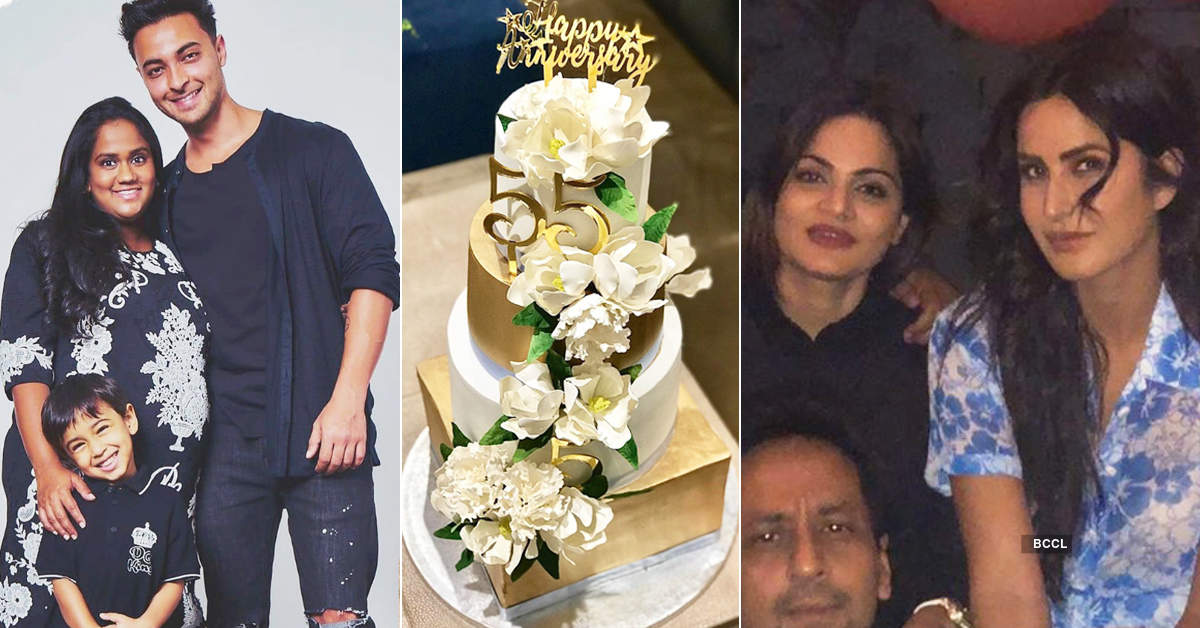 Salman Khan, Katrina Kaif and other stars attend Aayush Sharma and Arpita Khan's wedding anniversary party