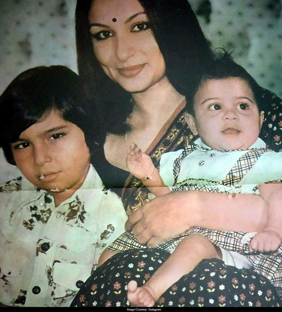 Image result for saif and soha childhoodpics