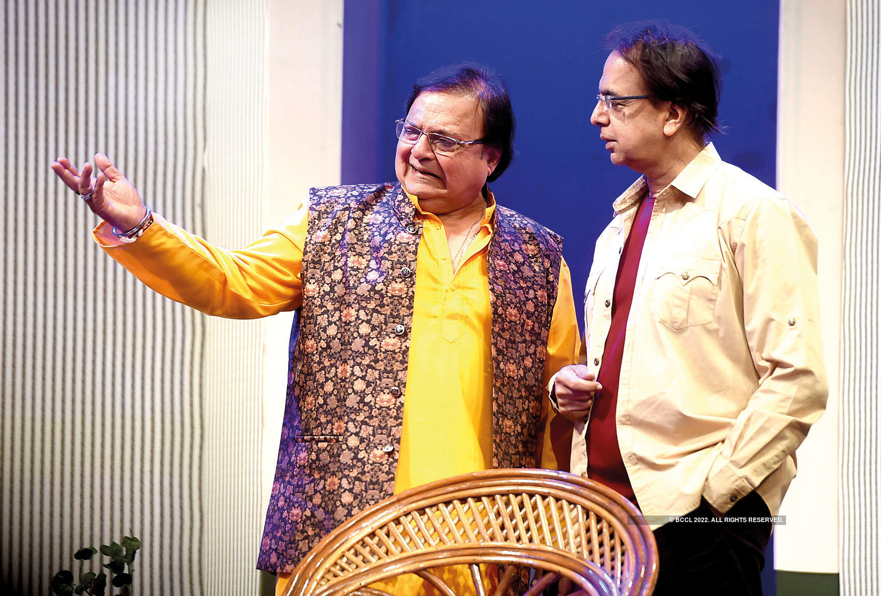 Rakesh Bedi and Anant Mahadevan in a scene from the play