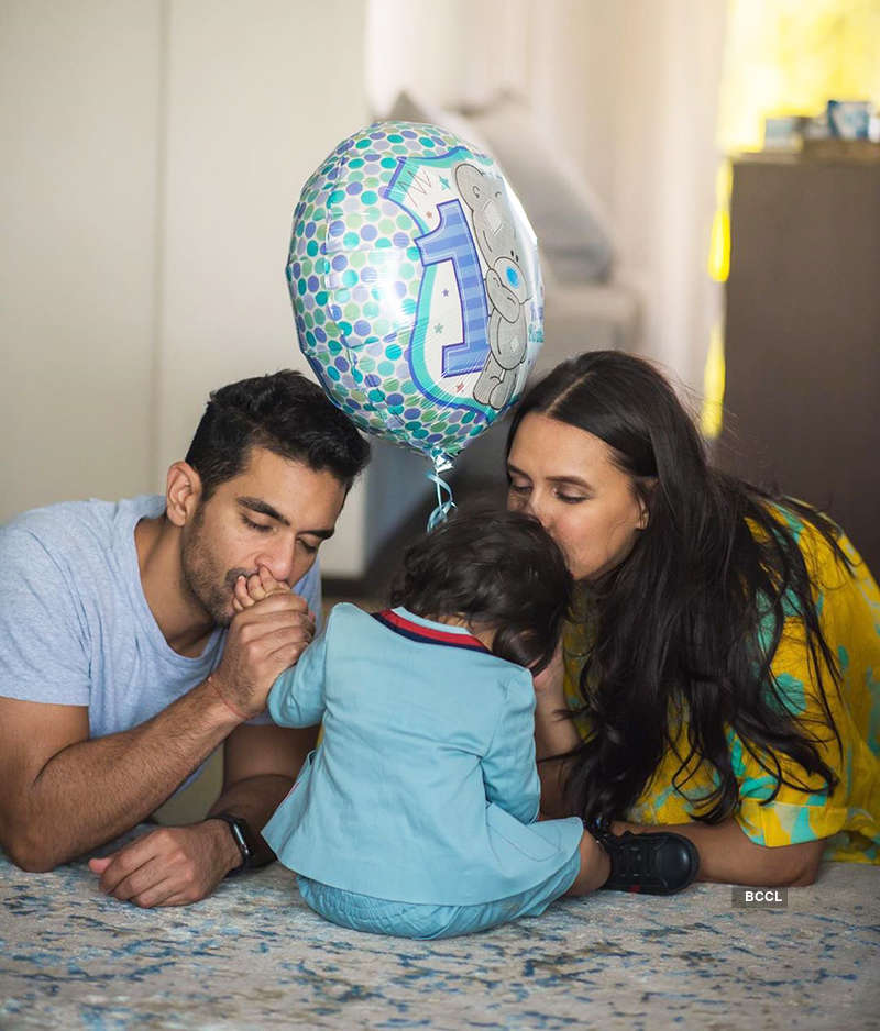 Angad Bedi wishes wifey Neha Dhupia with these candid pictures on her birthday