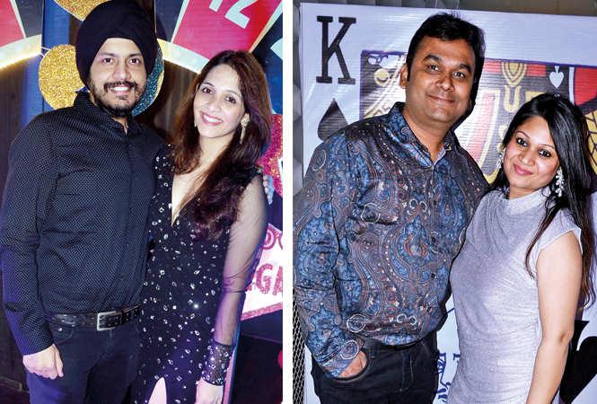(L) Saurabh and Bhawneet Chawla (R) Ashish and Neha Agarwal (BCCL/ IB Singh)