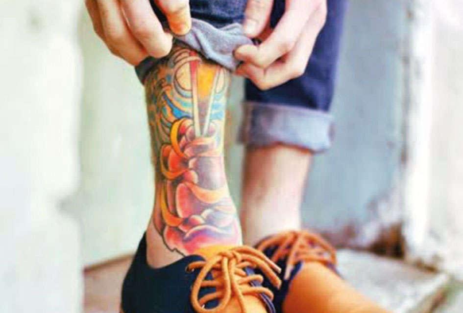 tatouage de cheville