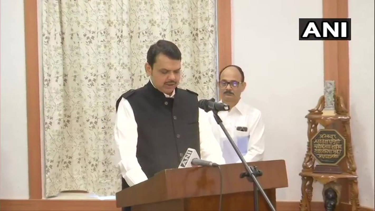 Fadnavis back as Maha CM, Ajit Pawar Dy CM