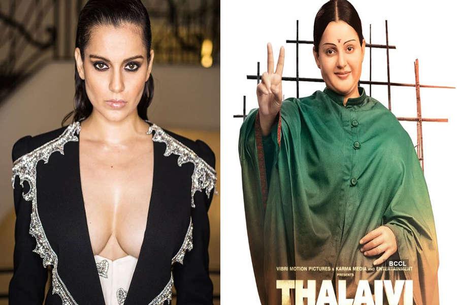 Kangana Ranaut looks unrecognisable as J Jayalalithaa in Thalaivi
