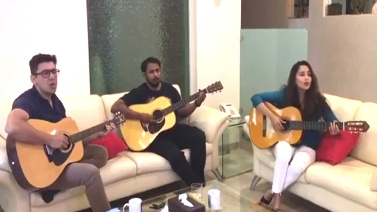 Madhuri Dixit jamming with hubby Sriram Nene will set your weekend mood right!