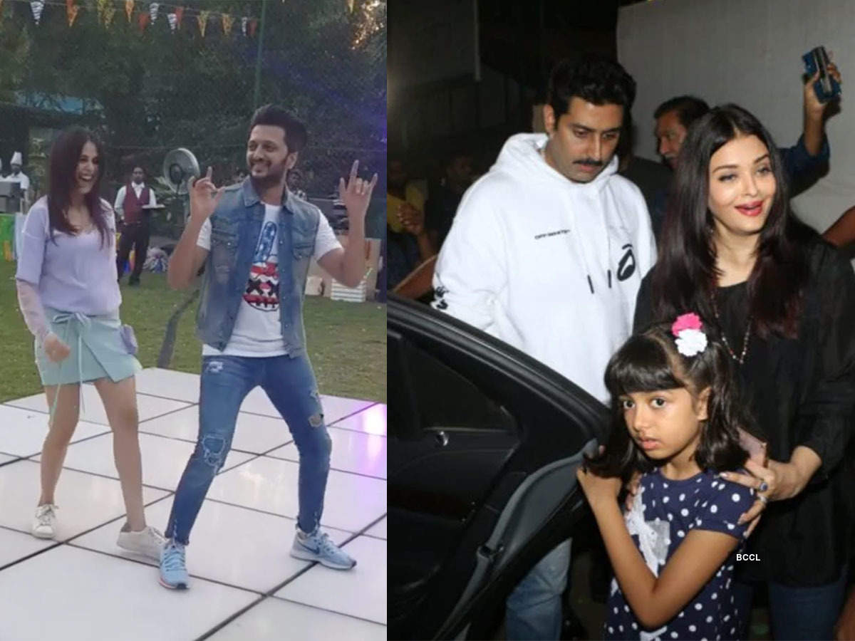 Bollywood celebs attend Riteish and Genelia Deshmukh's son Riaan's birthday party