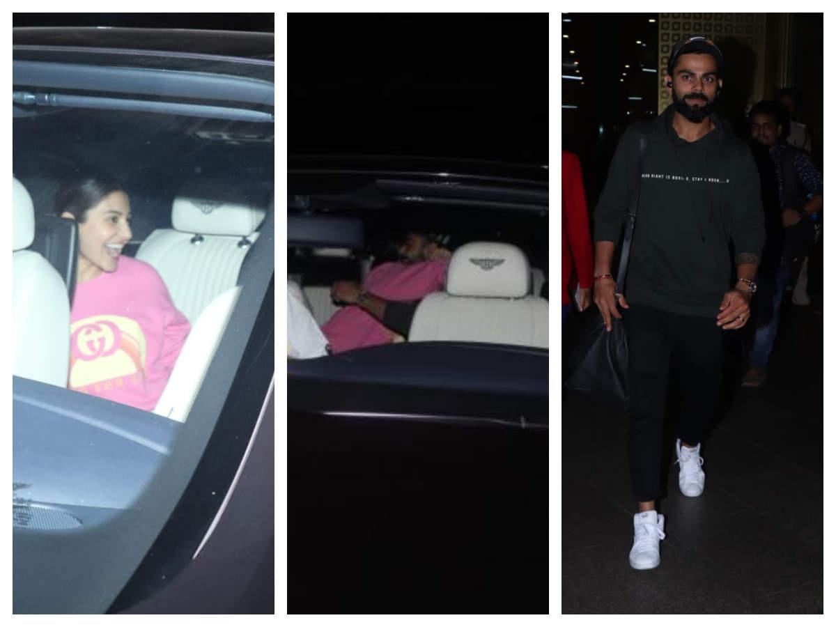 Anushka Sharma Receives Virat Kohli At The Airport And Their