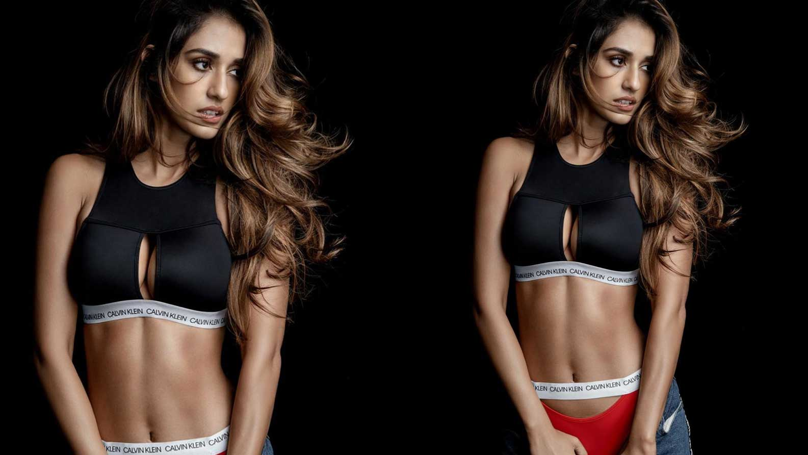 Disha Patani raises mercury levels as she flaunts her washboard abs in this innerwear