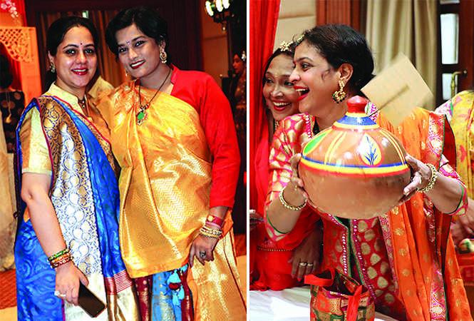 (L) Pallavi Agrawal and Shipra Bhargava (R) Poonam Maheshwari (BCCL/ Unmesh Pandey)