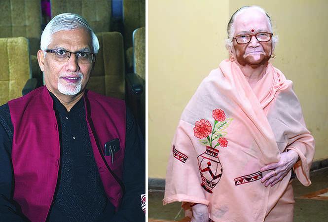 (L) Dr Ravi Lele (R) Gayatri David (BCCL/ Vishnu Jaiswal)