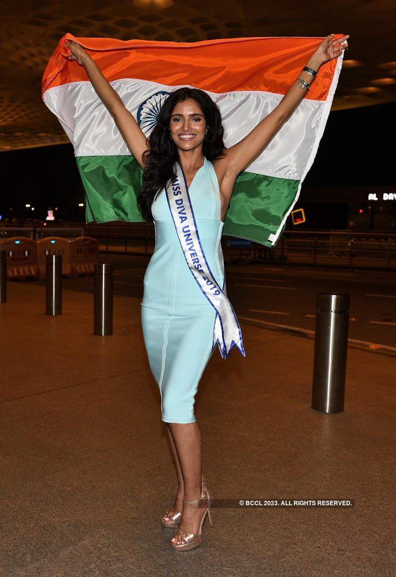 Vartika Singh leaves for Miss Universe 2019