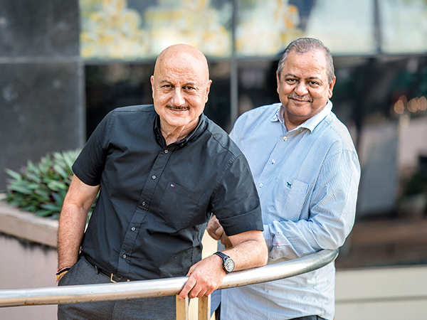 Reel meets real: Anupam Kher with chef Hemant Oberoi, who he portrays in Hotel Mumbai