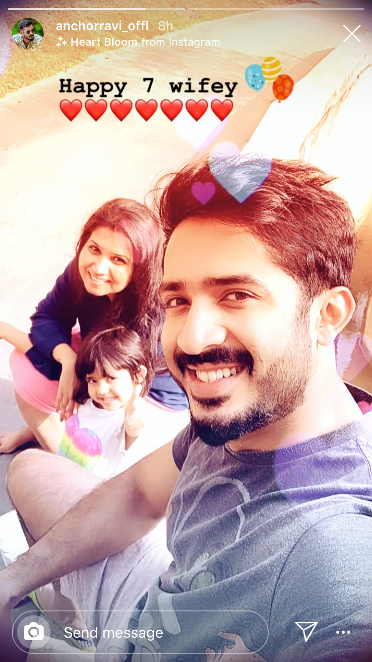 Ravi wishes wife Nitya