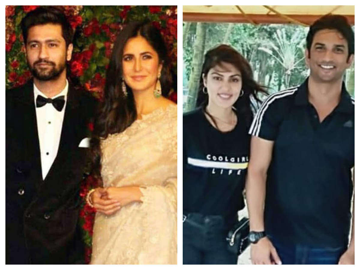 From Vicky Kaushal-katrina Kaif To Sushant Singh Rajput-rhea Chakraborty: Hottest New Couples In B-town!