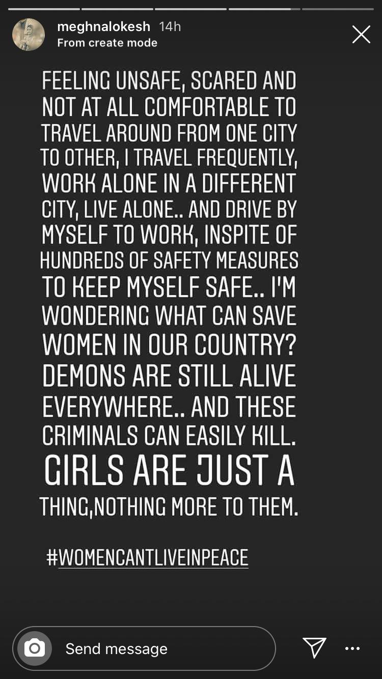 Meghna on women safety
