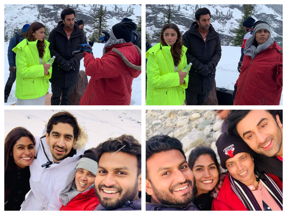 Bts Pictures Of Alia Bhatt And Ranbir Kapoor From The Sets Of The Film In Manali Will Make You All Excited