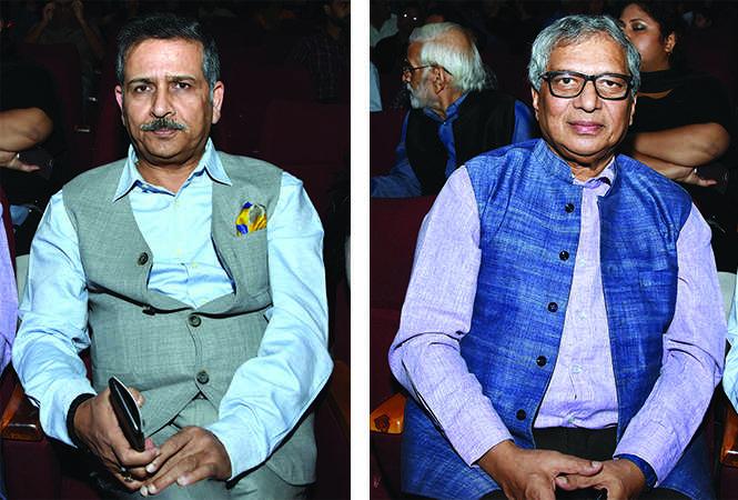 (L) Justice PK Jaiswal (R) Justice Shabihul Hasan (BCCL/ Farhan Ahmad Siddiqui)