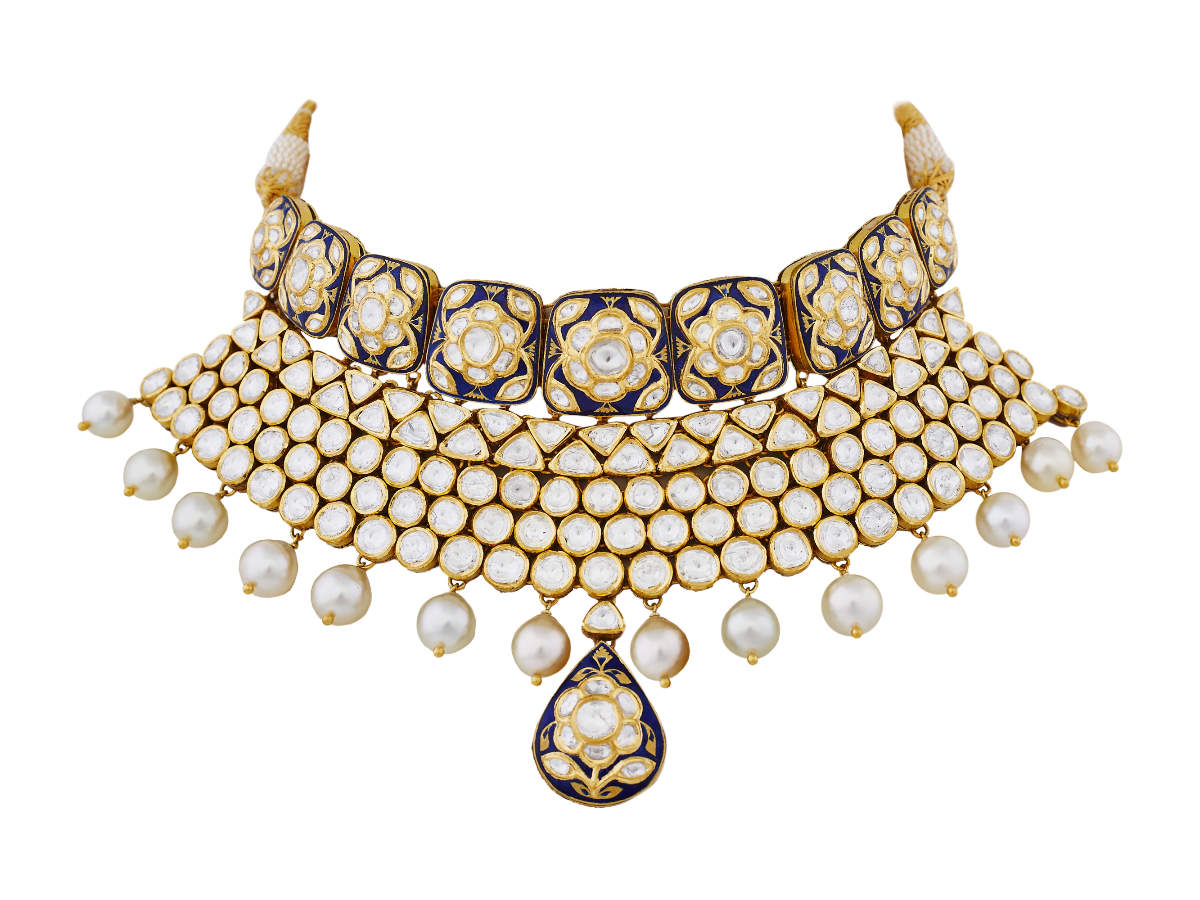 choker necklace anita dongre pink city
