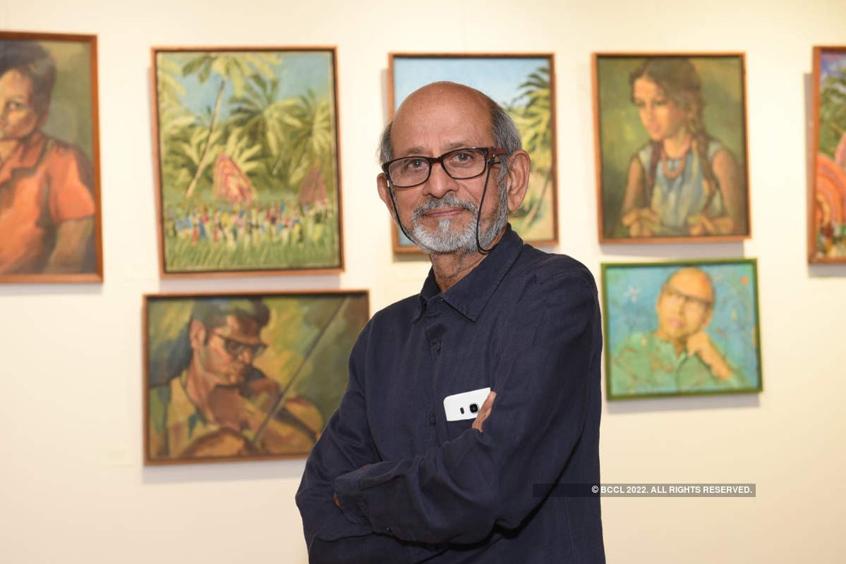 Artist Rohini Kumar pays tribute to his gurus with an exhibition