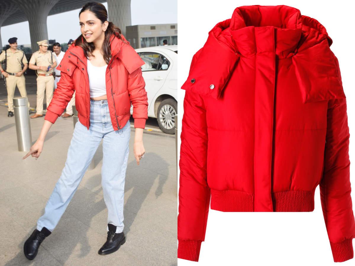deepika red jacket (1)