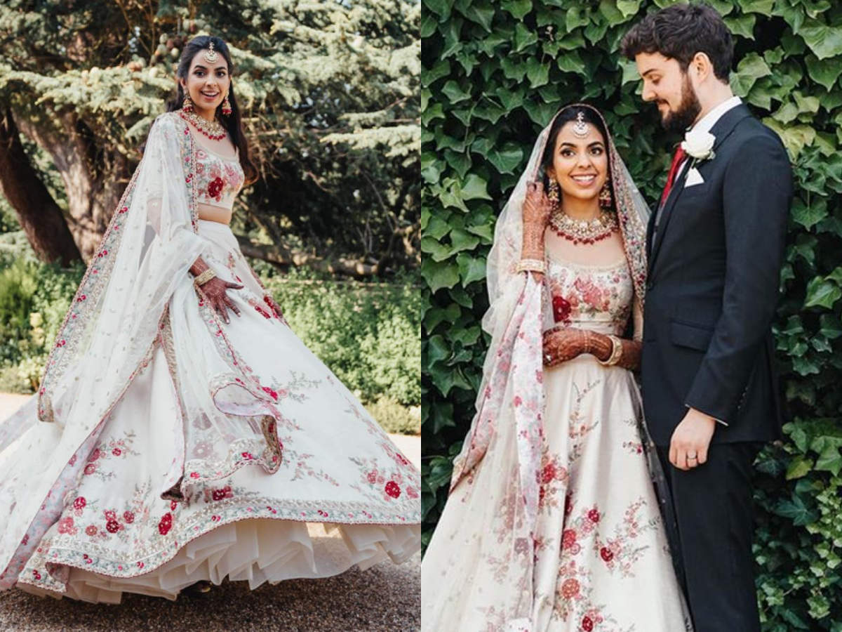 This Indian Doctor Wore A White Sabyasachi Lehenga For Her Uk