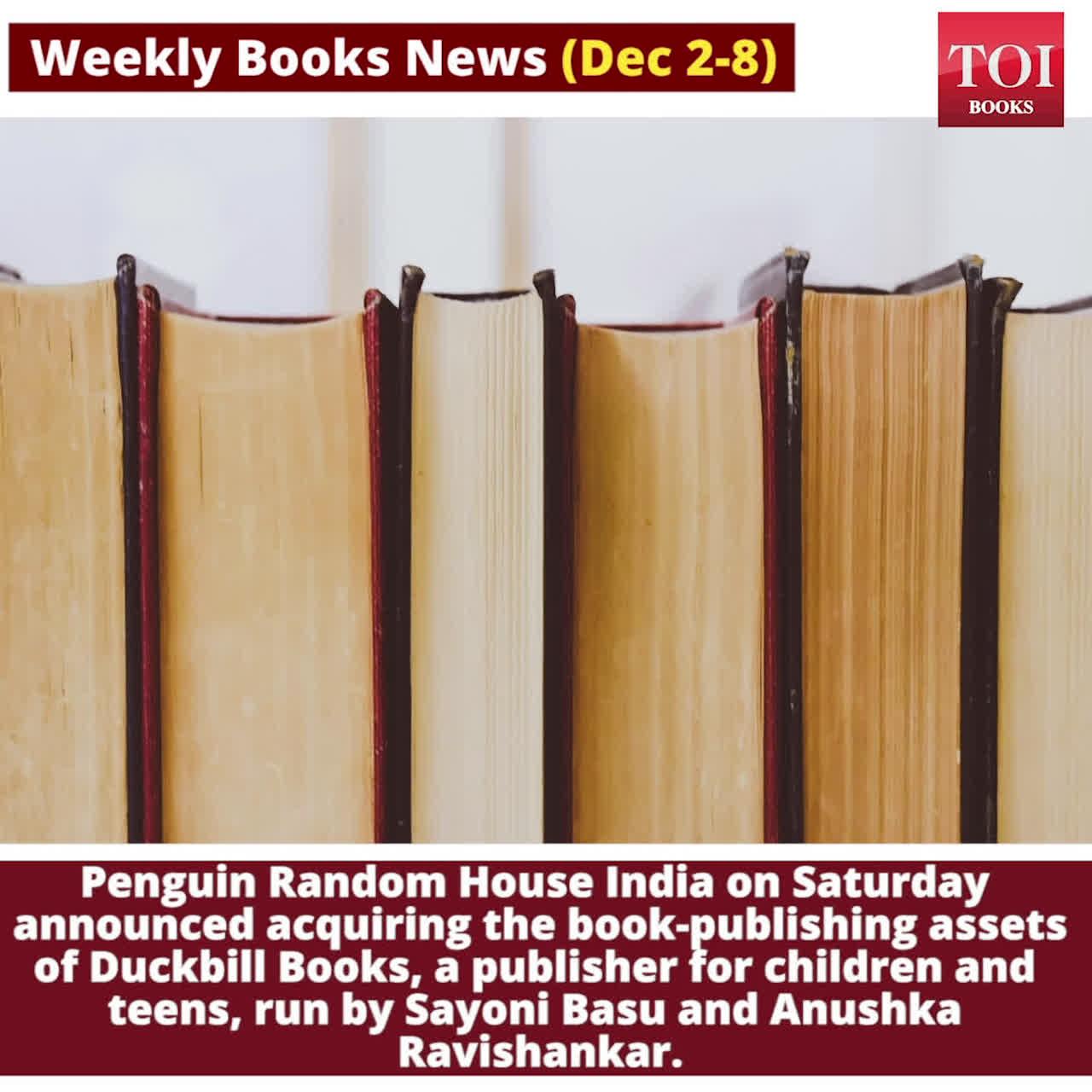 Weekly Books News (Dec 2-8)