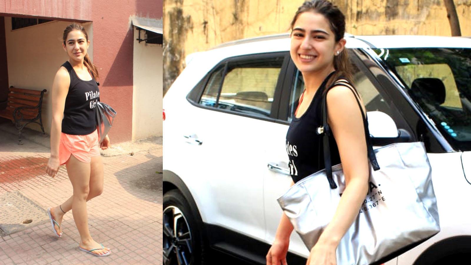 Sara Ali Khan looks fresh as a daisy as she hits the gym