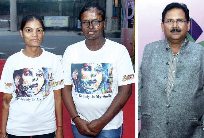 (L) Kunti Soni and Rupali Vishwakarma (R) Ramesh Chandra Gupta (BCCL/ Vishnu Jaiswal)