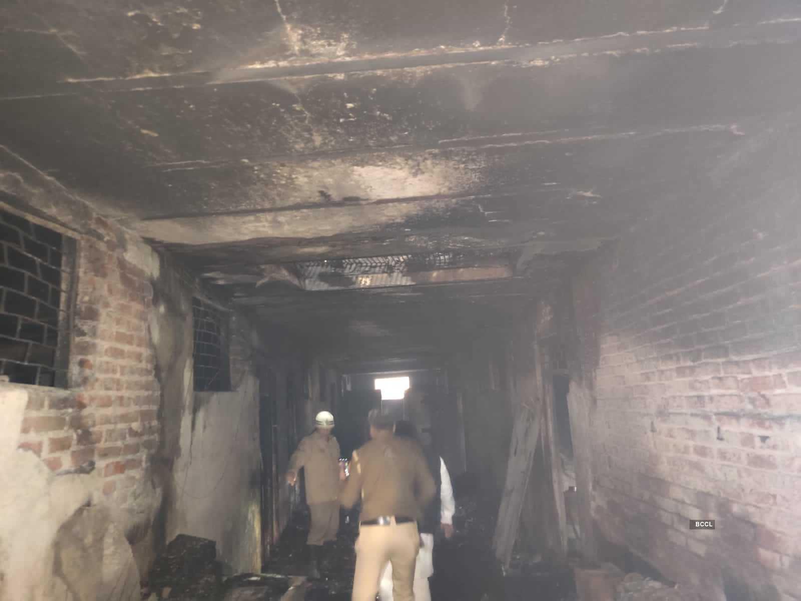Horrific pictures from the site of massive fire in Delhi's Anaj Mandi