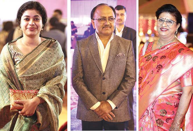 (L) Piyu Chaudhri (C) Siddharth Nath Singh (R) Sweta Agarwal (BCCL/ Aditya Yadav)